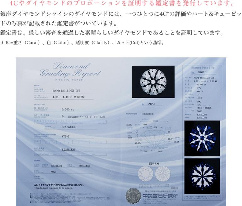 ダイヤモンドの鑑定書・証明書を発行