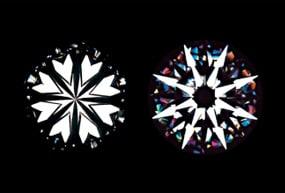 ダイヤモンドのハート&アローマーク