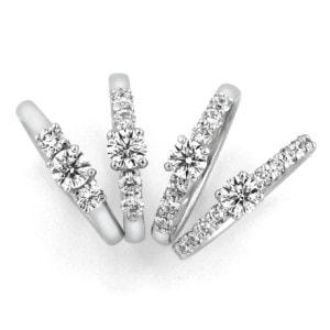 銀座ダイヤモンドシライシの婚約指輪(エンゲージリング)「ドロップス」