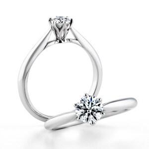 銀座ダイヤモンドシライシの婚約指輪(エンゲージリング)「セントグレア」