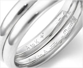 プロポーズの言葉を指輪に刻印