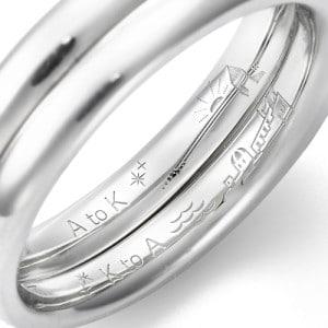 婚約指輪に刻印を入れる
