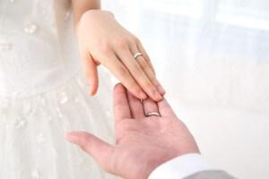 結婚指輪を交換する意味のイメージ