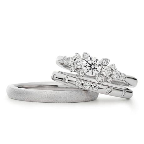 新作婚約・結婚指輪セットリング「Diamond Grass」