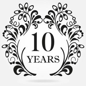 10年目の記念日イメージ