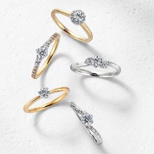 銀座ダイヤモンドシライシの婚約指輪(エンゲージリング)「スマイリングシリーズ」