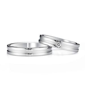 銀座ダイヤモンドシライシ結婚指輪人気ランキング10位「Eternal flow 08,09(エターナルフロー 08,09)」