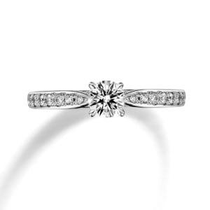 銀座ダイヤモンドシライシ人気婚約指輪(エンゲージリング)ランキング5位『Diana D. 細身 メレ(ディアナ ディー 細身 メレ)』