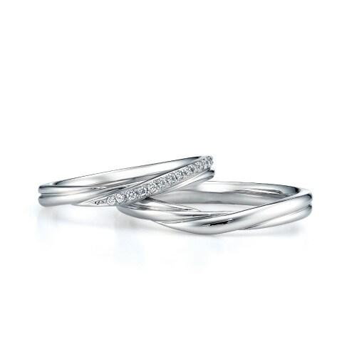 プリマージュ チェリッシュ V字の結婚指輪の拡大