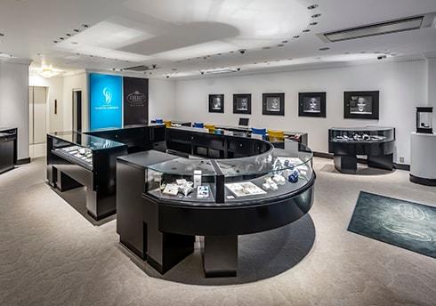 銀座ダイヤモンドシライシ 大阪店の店内の様子