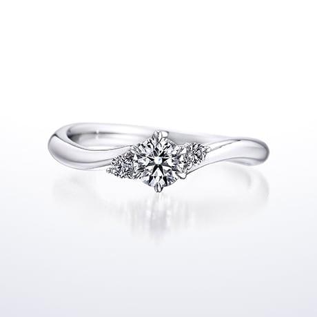 婚約指輪指輪人気ランキング第3位「Shining Flow(シャイニングフロー)」